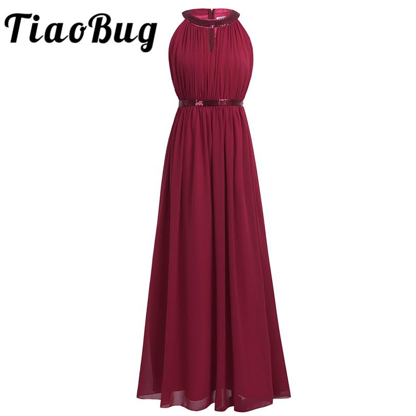 [해외]TiaoBug 부르고뉴 해군 파란색 긴 들러리 드레스 2017 여성 숙녀 시폰 홀터 브라 디 Maxi 댄스 파티 공주 드레스 레이스/TiaoBug Burgundy Navy Blue Long Bridesmaid Dresses 2017 Women Ladies Chi