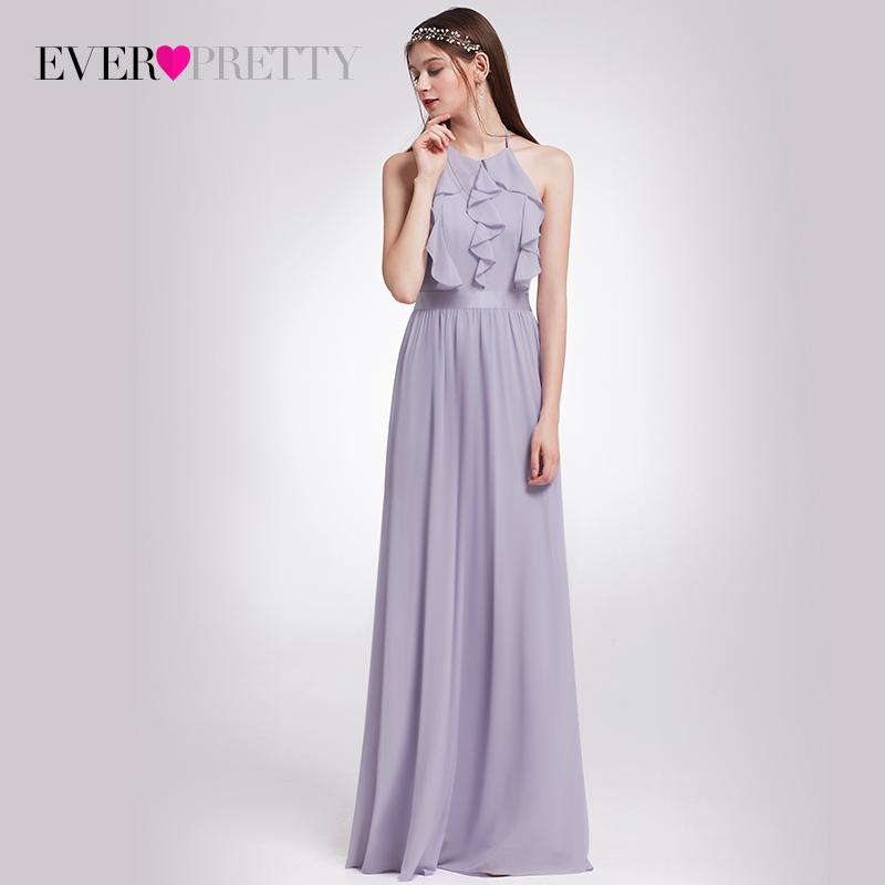 [해외]신부 들러리 드레스 이제까지 예쁜 여자 & s 우아한 고삐 가슴살 조정 가능한 층 길이 민Retail 뒤뜰 파티 가운 EP07201/Bridesmaid Dress Ever Pretty Women&s Elegant Halter Ruffles Adjustab