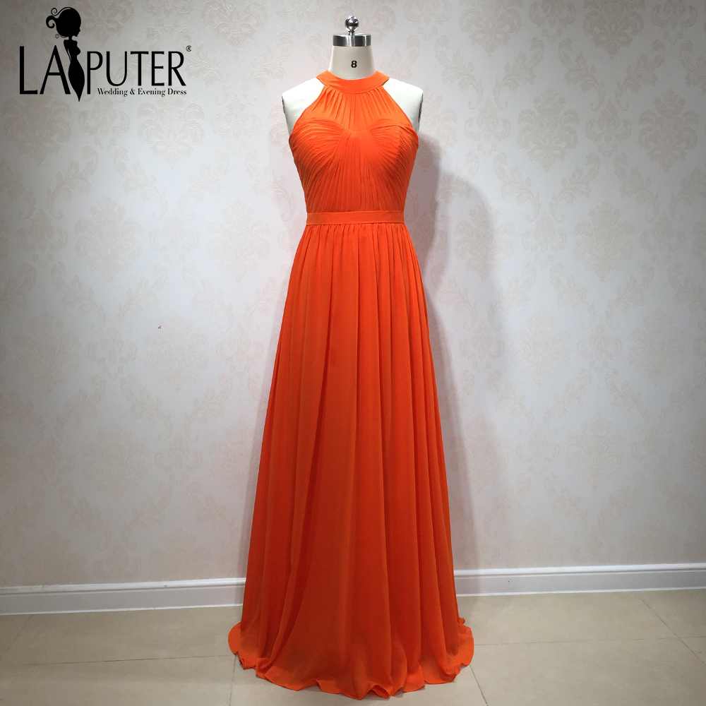 [해외]2018 오렌지 쉬폰 롱 우아하고 저렴 한 크기 신부 들러리 드레스 간단한 할인 사용자 지정 만든/2018 New Arrival Orange Chiffon Long Elegant Cheap Plus Size Bridesmaid Dresses Simple Disc