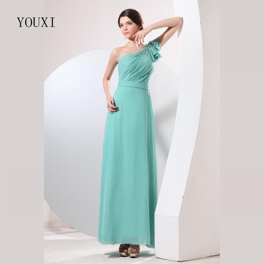 [해외]신부 들러리 드레스 2017 YOUXI BD018 여성 & 한 어깨 패딩 가운 녹색 시폰 파티 파티 드레스/Bridesmaid Dresses 2017 YOUXI BD018 Women&s One Shoulder Padded vestidos Green Chi