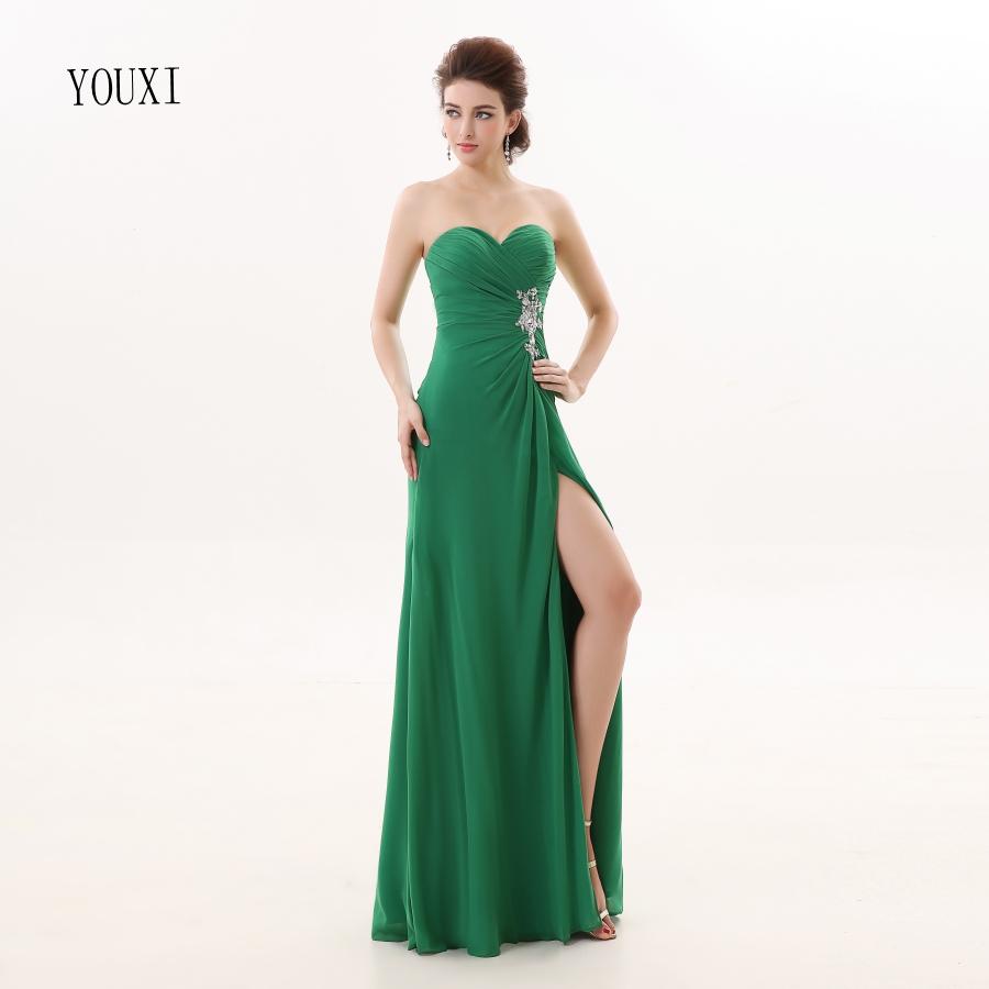 [해외]들러리 드레스 2017 YOUXI BD011 오프 숄더백 여자 그린 패딩 가운 시폰 드레스/Bridesmaid Dresses 2017 YOUXI BD011 Women&s Off Shoulder Sweetheart Green Padded vestidos Chiff