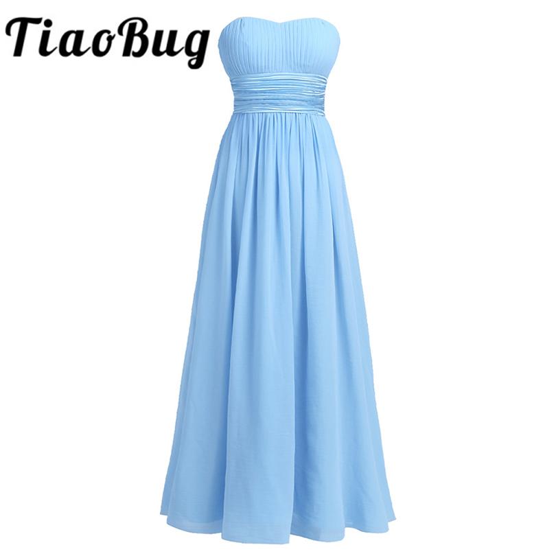 [해외]TiaoBug 숙녀의 여성 & 쉬폰 신부 들러리 드레스 긴 층 길이 공식 공주 꽃 장관 제원 여름 웨딩 파티 드레스/TiaoBug Ladies Women&s Chiffon Bridesmaids Dresses Long Floor Length Formal P