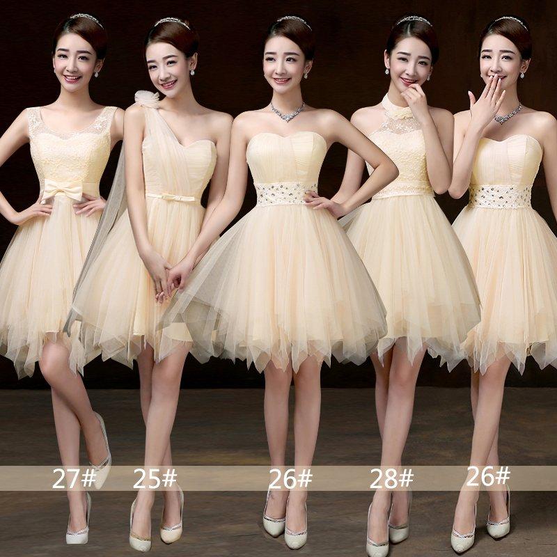 [해외]달콤한 추억 신입생 샴페인 들러리 드레스 홀터 신부 자매 볼 가운 핑크 스카이 블루 화이트 바이올렛 SW0012/Sweet Memory New Arrivals Champagne bridesmaid dress halter bride sister ball gown
