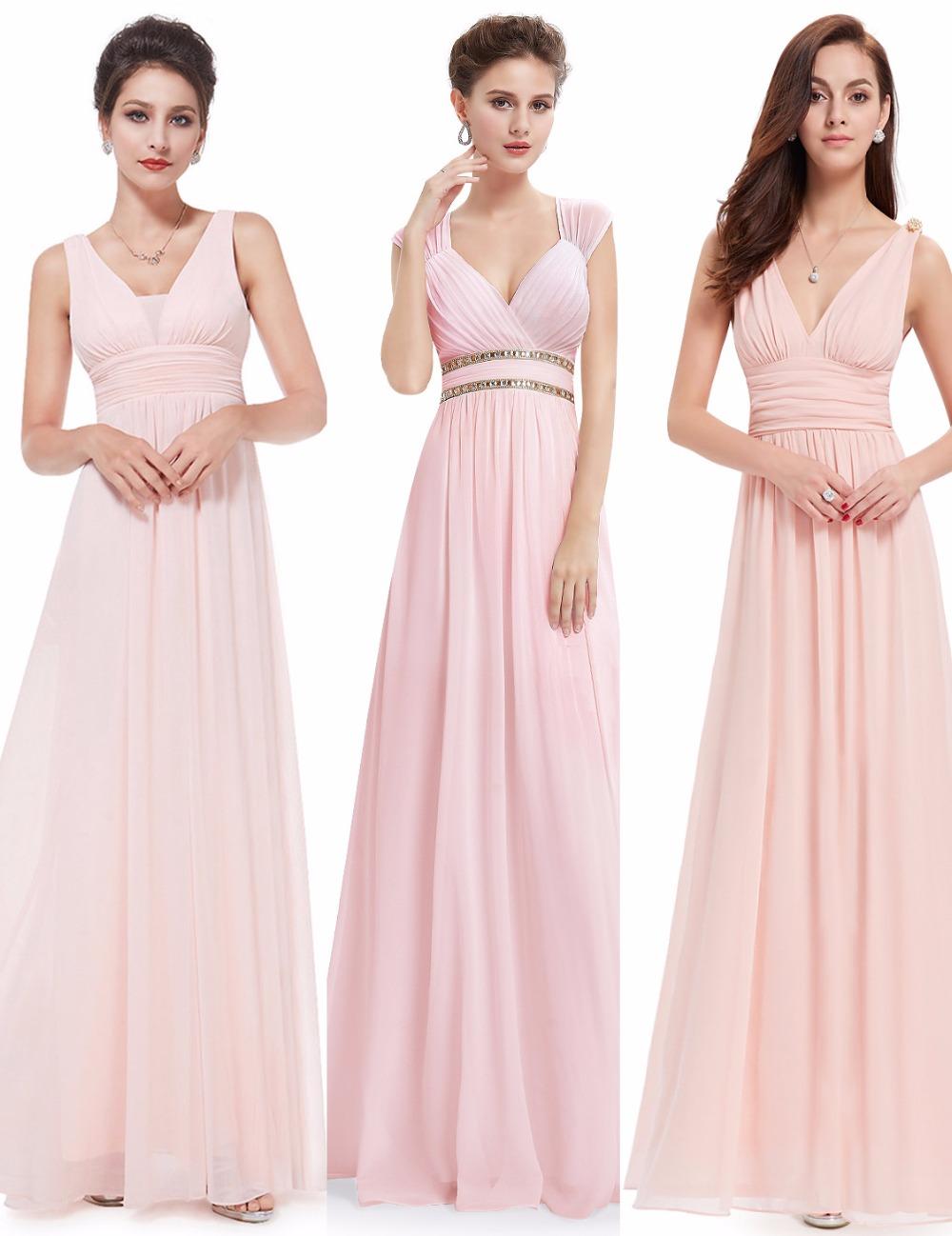 [해외]적 예쁜 여자 우아한 숙녀 긴 들러리 들러리 드레스 V-Neck 시폰 민Retail 스파게티 웨딩을백업 드레스/Ever Pretty Women Elegant Ladies Long Bridesmaid Dresses V-Neck Chiffon Sleeveless S