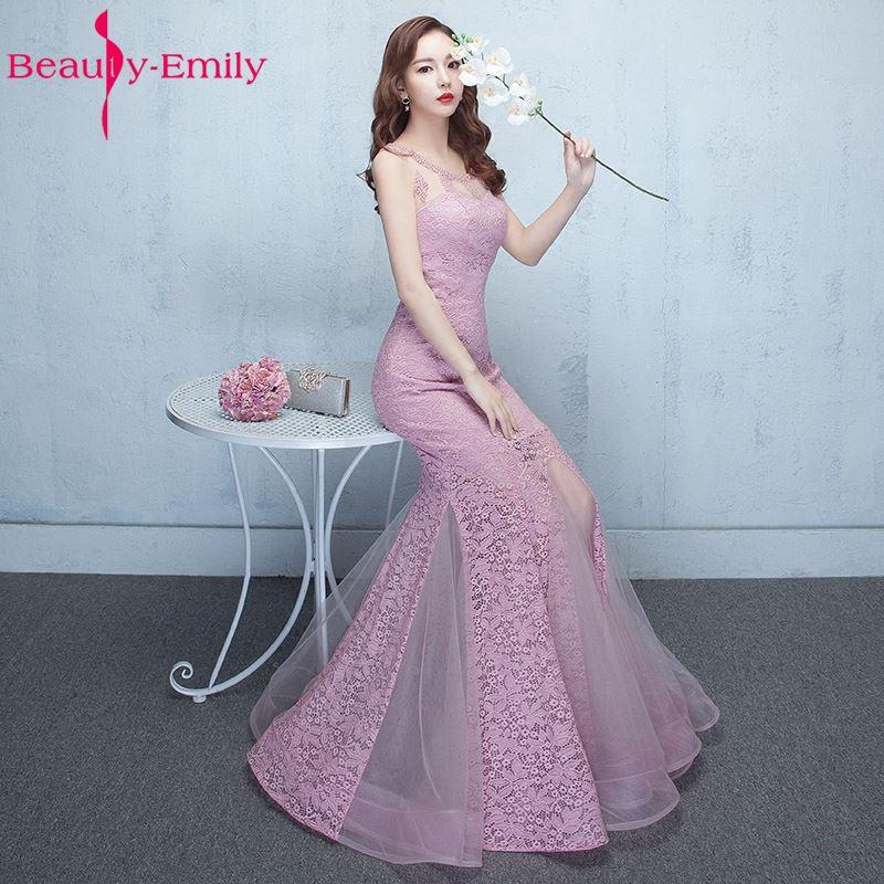[해외]아름다움 - 에밀리 머메이드 Peals 섹시한 신부 들러리 드레스 2017 O-neck Wedding Occasion 신부 파티 댄스 파티 드레스들/Beauty-Emily Mermaid Peals Sexy Bridesmaid Dresses 2017 O-Neck