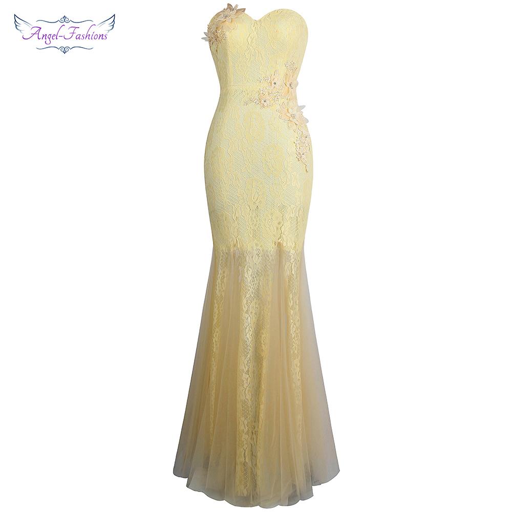 [해외]천사 - 패션 Appliques 레이스 Sweetheart 인어 웨딩 파티 들러리 드레스 J-180113-S/Angel-fashions Appliques Lace Sweetheart Mermaid Wedding Party Bridesmaid Dresses J-1