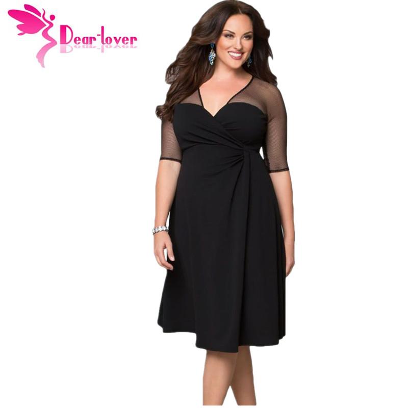 [해외]친애하는 연인 플러스 사이즈 XXL 여성 패션 반 Retail 작업은 설탕과 향신료 드레스 아늑한 vestidos 가을 드레스 큰 사이즈를 착용 LC60671/Dear Lover Plus Size XXL Women Fashion Half Sleeve Work W