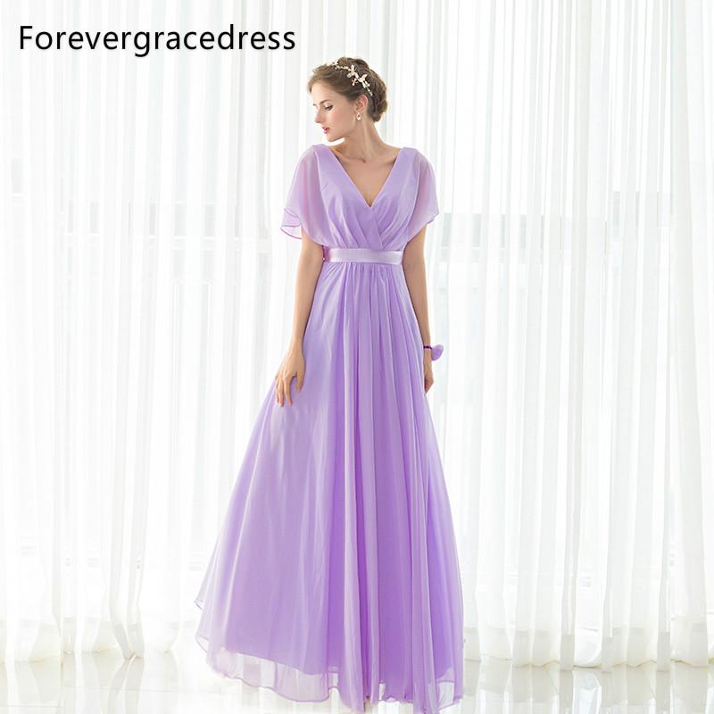 [해외]Forevergracedress 우아한 저렴 한 보라색 들러리 드레스 긴 쉬폰 웨딩 파티 드레스 플러스 크기 맞춤 제작/Forevergracedress Elegant Cheap Purple Bridesmaid Dress New Arrival Long Chiffo
