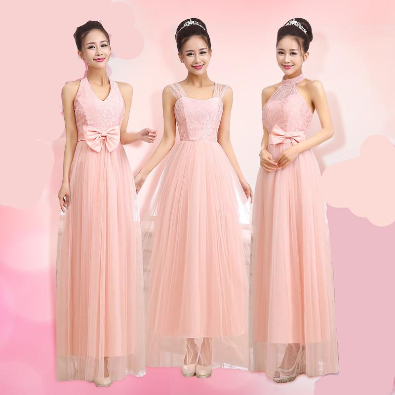 [해외]LCM19 스위트 핑크 드레스 긴 들러리 드레스 봄 여름 웨딩 아이디어 파티 드레스 저렴한 블러쉬 들러리 드레스/LCM19 Sweet Pink Dress Long Bridesmaid Dresses Cheap Blush Bridesmaid Dresses For S