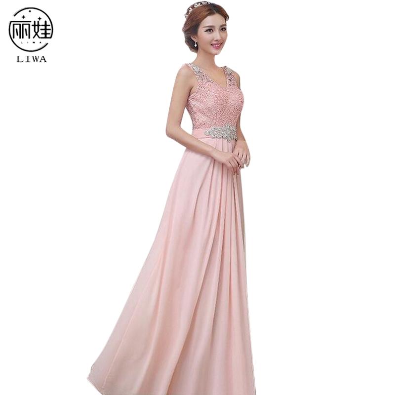 [해외]S-4XL 플러스 크기시 폰 레이스 긴 들러리 들러리 드레스 민Retail V- 목 결혼식 파티 드레스 Vestido De Festa De Casamento BV107/S-4XL Plus Size Chiffon Lace Long Bridesmaid Dresses