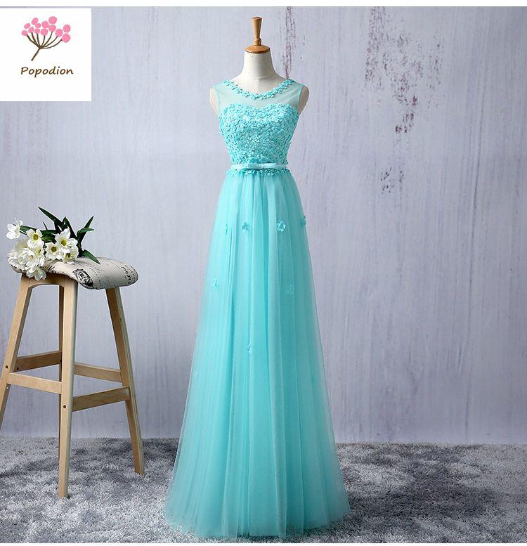 [해외]웨딩 게스트 드레스 자매 파티 플러스 크기 댄스 파티 드레스에 오랫동안 포드 신부 들러리 드레스 ROM80117/Popodion bridesmaid dresses long for wedding guests dress sister party plus size pr