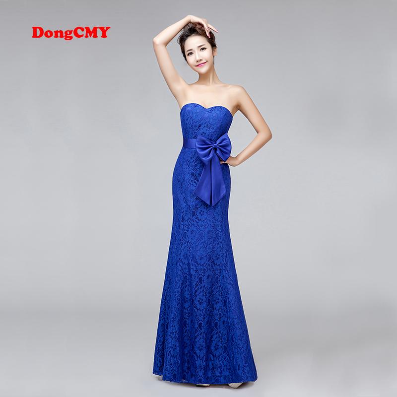 [해외]DongCMY 새로운 2018 긴 디자인 인어 플러스 크기의 신부 붕대 로얄 블루 V - 넥 신부 들러리 드레스/DongCMY New 2018 long design mermaid Plus size bride bandage royal blue V-Neck Brid