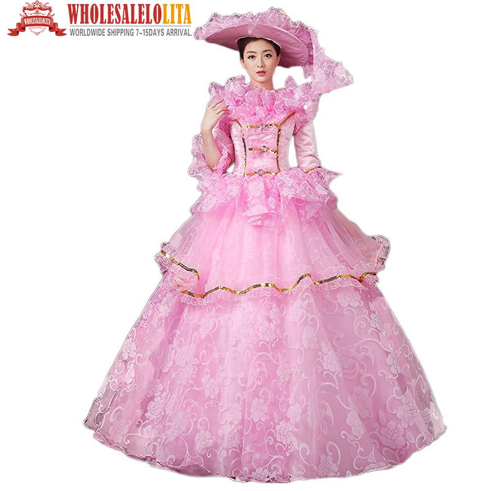 [해외]남북 전쟁 빅토리아 로코코 스타일 댄스 파티 드레스 / 무대 복 / 휴가 드레스 / 웨딩 파티 드레스/Civil War Victorian Rococo Style Prom  Dress/ Stage Dress/Holiday Dress/Wedding Party Dre