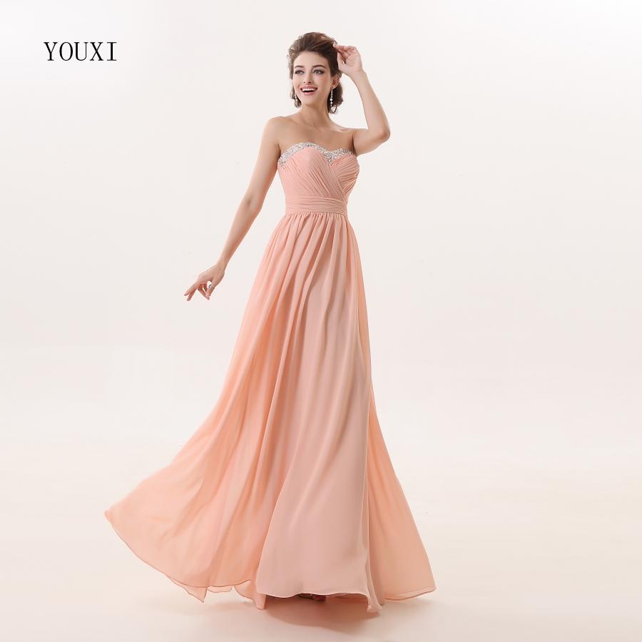 [해외]핑크 쉬폰 신부 들러리 드레스 2017 새로운 패션 라인 공식 파티 파티 가운/Pink Chiffon Bridesmaid Dresses 2017 New Fashion A-Line Formal Prom Party Gowns