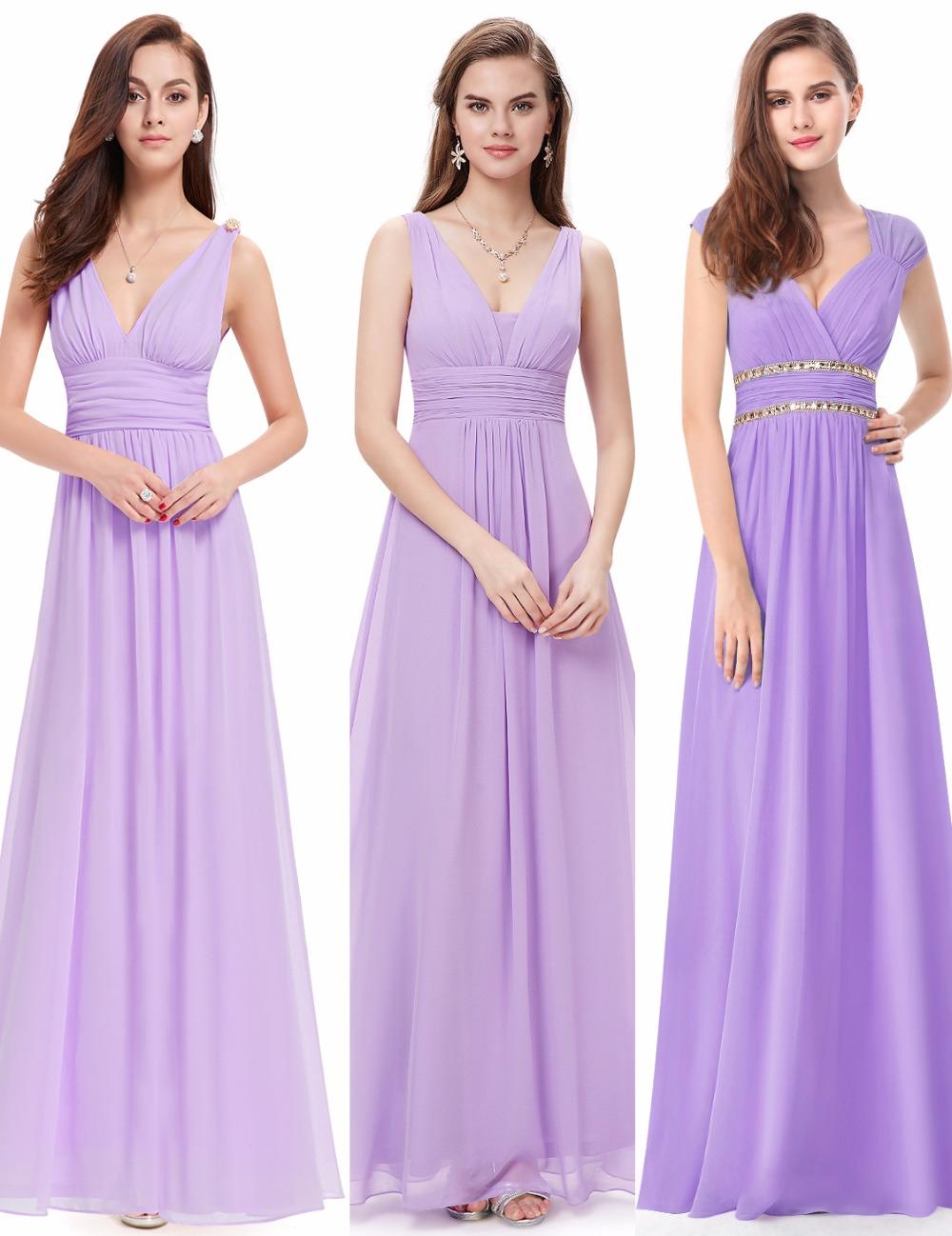 [해외]적 꽤 예쁜 새 여자 웨딩 신부 들러리 드레스 시폰 V - 목 스파게티 스트랩 Pleat 웨딩을새로운 컬렉션 드레스/Ever Pretty New Women Wedding Bridesmaid Dresses Chiffon V-Neck Spaghetti Straps