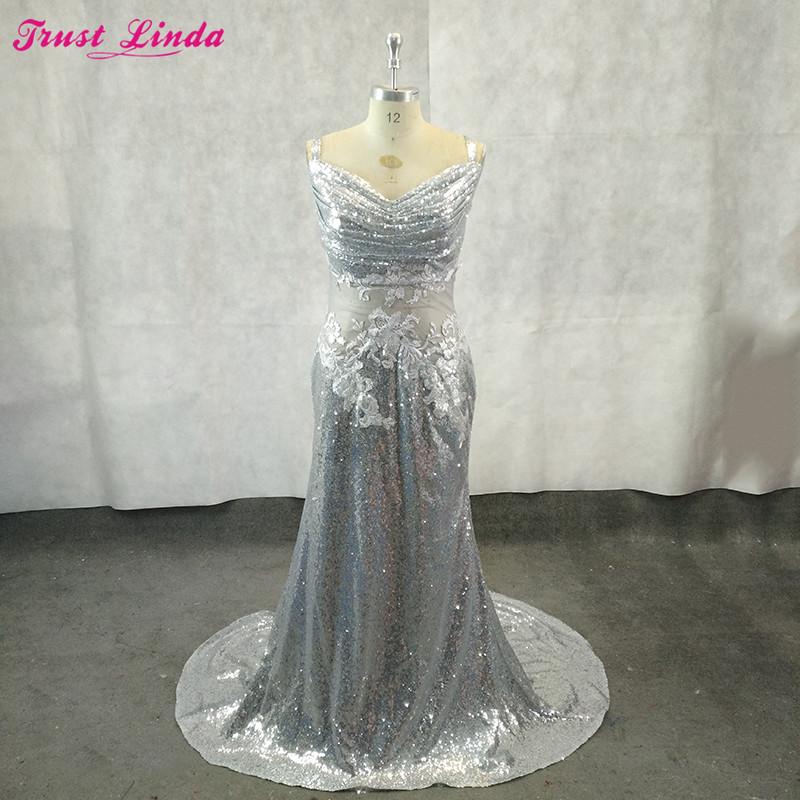 [해외]실버 스팽글 아플리케를 통해 섹시 볼 들러리 드레스 웨딩 파티 드레스 트럼펫 인어 신부 들러리 드레스 맞춤 제작/Sexy See Through Silver Sequined Appliques Bridesmaid Gowns Wedding Party Dress Tru