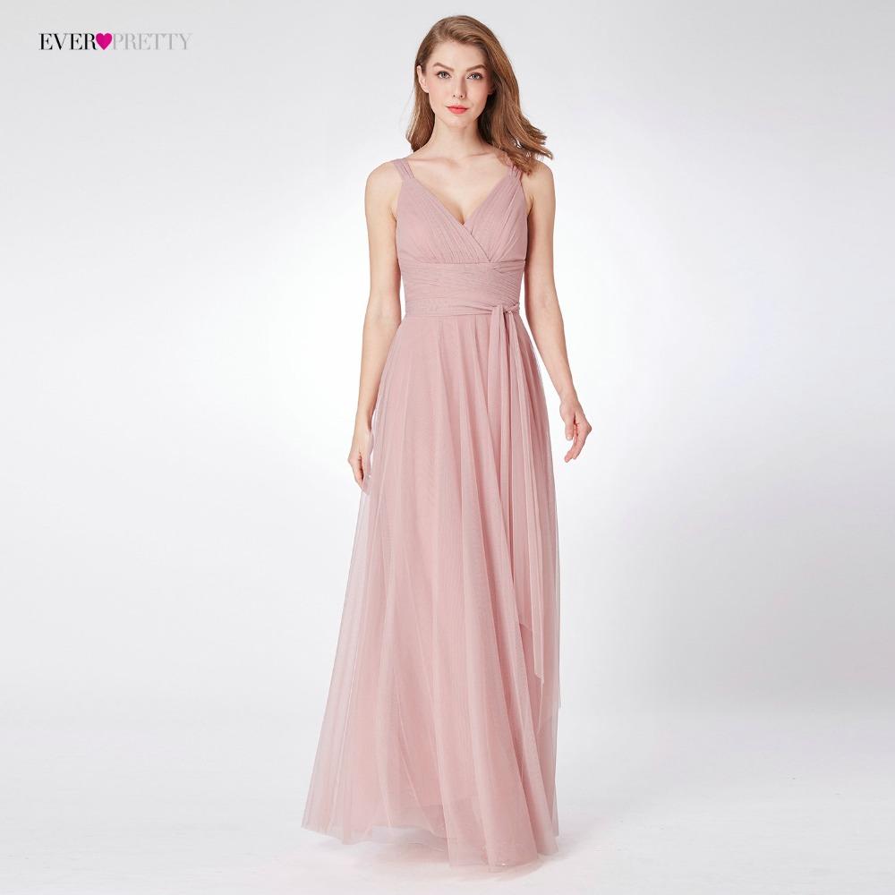 [해외]사랑스러운 핑크 신부 들러리 드레스 EP07303 여자를우아한 여자 친구 A 라인 V 넥 민Retail 웨딩 파티 드레스/Blush Pink Bridesmaid Dresses Ever Pretty EP07303 Sweetheart A-line V-neck Sle