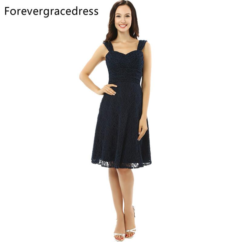 [해외]Forevergradress 빈티지 레이스 위로 신부 드레스의 어머니 블랙 무릎 길이 저녁 파티 드레스 플러스 크기 맞춤 제작/Forevergracedress Vintage Lace Up Back Mother of the Bride Dress Black Knee