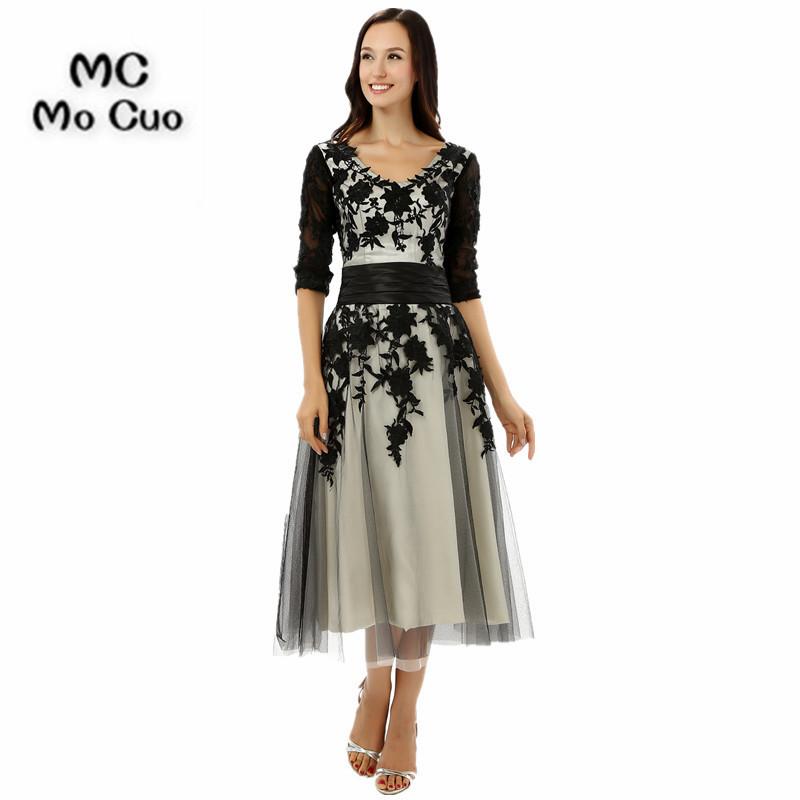 [해외]2017 정장 이브닝 드레스 dresses Half Sleeve vestido de madrinha 앵클 길이 이브닝 드레스 신부의 어머니 드레스/2017 Formal Evening Party dressesHalf Sleeves vestido de madrinh