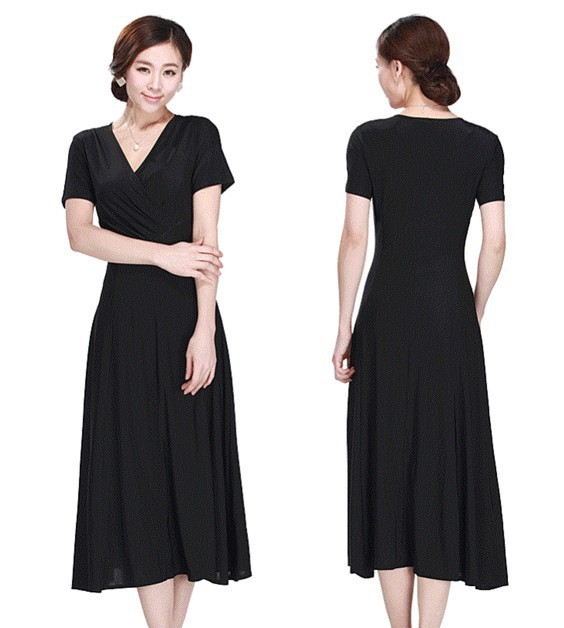 [해외]플러스 사이즈 신부 드레스의 여름 어머니 짧은 신부의 V 넥 긴 멋진 부드러운 탄성 직물 신부 드레스의 어머니/Plus size Summer Mother of the Bride Dresses short sleeve V-neck long wonderful soft