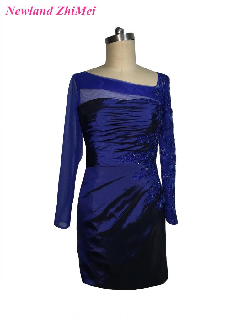 [해외]로얄 블루 짧은 어머니 신부 드레스 2017 화려한 사용자 정의 만든 된 applique 결혼식을파티 드레스 구슬/Royal Blue Short Mother of the Bride Dresses 2017 Gorgeous Custom Made Applique Be