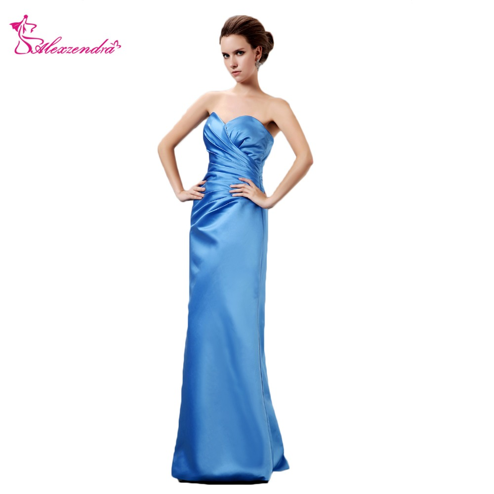 [해외]Alexzendra Sweetheart 로얄 블루 Pleats 신부의 새 어머니 드레스 긴 이브닝 가운 더하기 크기/Alexzendra Sweetheart Royal Blue Pleats New Mother of Bride Dress Long Evening Go