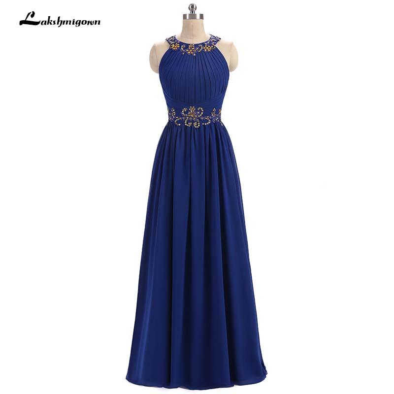 [해외]네이비 블루 시폰 드레스의 신부 드레스 라인 웨딩 드레스 웨딩 드레스 웨딩 드레스 Vestido De Madrinha/Navy blue Chiffon Mother Of The Bride Dresses A Line Gold Beading Bridal Wedding
