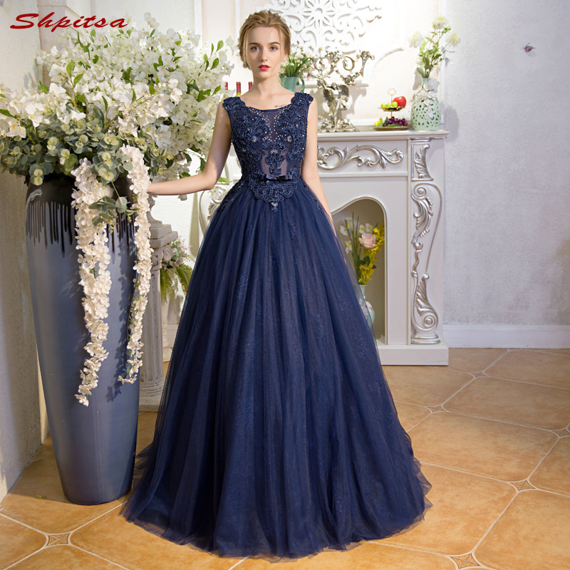[해외]결혼식을신부 드레스의 해군 블루 어머니 라인 저녁 신랑 대모 드레스/Navy Blue Mother of the Bride Dresses for Weddings Beaded A Line Evening Groom Godmother Dresses