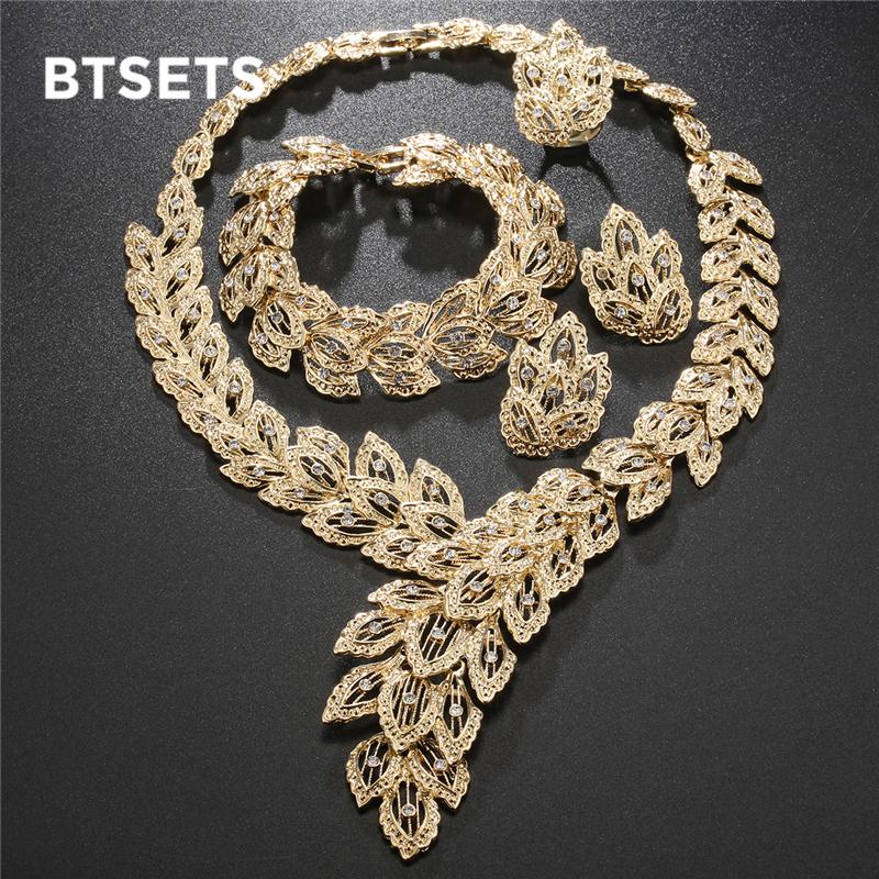 [해외]BTSETS 패션 주얼리 세트 아프리카 나이지리아 비즈 두바이 보석 세트 여성 결혼 신부 터키어 초커 의상 보석 세트/BTSETS Fashion Jewelry Sets African Nigeria Beads Dubai Jewellery Set Women Wedd