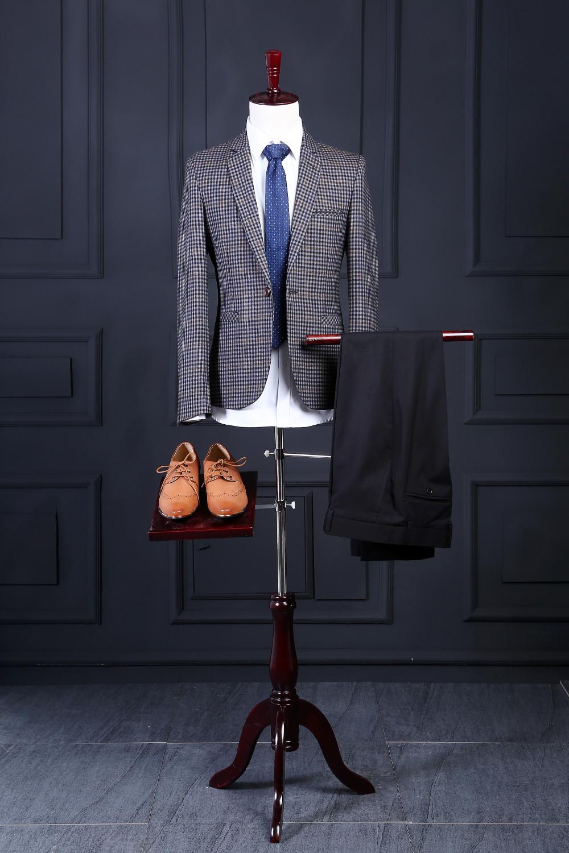 [해외]2016 새로운 100 % 슬림 맞는 신랑 턱시도 슬림 맞는 신랑 들러리 웨딩 웨딩 정장 맞춤 제작 (자켓 + 바지)/2016 New 100%  Slim Fit Groom Tuxedos Slim Fit Groomsmen Mens Wedding Prom Suits