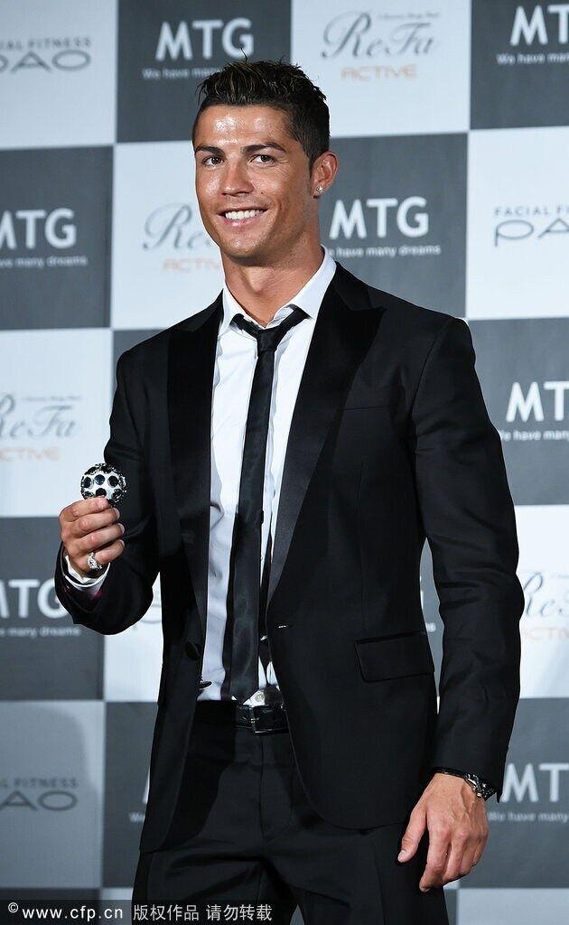 [해외]크리스티 아 누 호나우두 같은 스타일의 정장 2 버튼 슬림 피트 블랙 포멀 신랑 드레스 2 피스 슈트 세트 (자켓 + 바지 + 넥타이)/Cristiano Ronaldo  Same Style suit  2 Button Slim Fit  Black Formal Gr