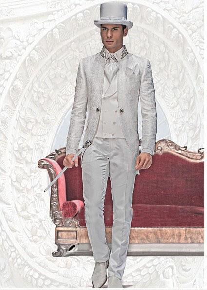 [해외]이탈리아 스타일 아침 바로크 결혼식 정장 / 최고의 남자 정장 / 웨딩 신랑 입고 의류 / 신랑 남성 정장 / 남성용 파티 드레스/Italian styles morning Baroque Wedding Suits/best man suit/wedding groom