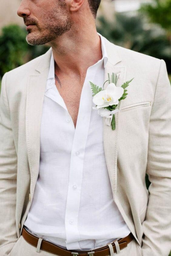 [해외]2017 최신 코트 바지 디자인 아이 보 리 화이트 린 넨 웨딩 정장 슬림 맞는 여름 스타일 남자 양복 재킷 턱시도 블레 이저 바지/2017 Latest Coat Pant Designs Ivory White Linen Wedding Suits for Men Sl
