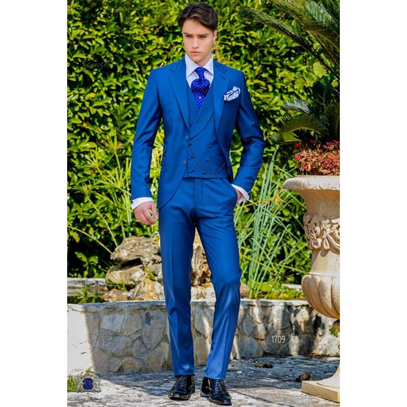 [해외]최신 코트 바지 디자인 로얄 이탈리아 남자 정장 클래식 부드러운 턱시도 댄스 파티 블레 이저 정의 3 피스 자켓 (재킷 + 바지 + 조끼)/Latest Coat Pant Designs Royal Italian Men Suit Classic Gentle Tuxed