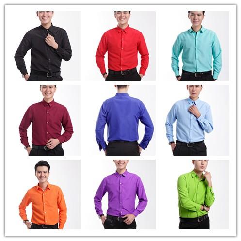 [해외]2016 긴팔 남성 셔츠 웨딩 / 댄스 파티 신랑 셔츠 가수는 신랑 남자 무대 성능 파티 셔츠 20 색상을 선택할웨어/2016 Long-sleeved Men Shirt Wedding/Prom Groom Shirts Singer Wear Bridegroom Man