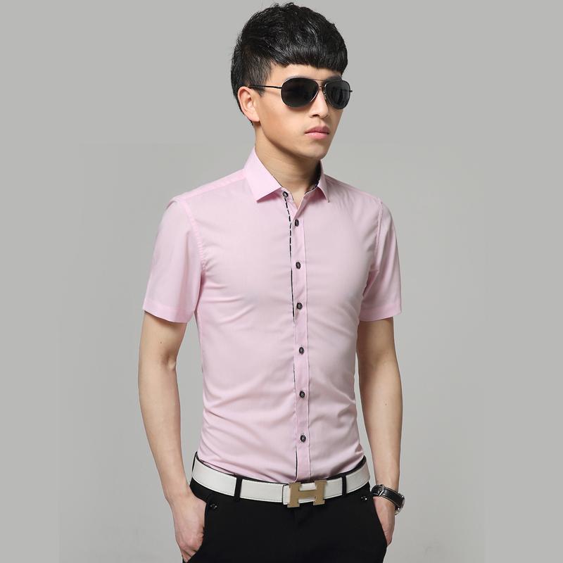 [해외]XXXXXL 남성 반팔 셔츠 슈 미 옴므 Camisas 남성 드레스 셔츠 하와이 Camisa 사회 Masculina 남자의 턱시도 셔츠에/XXXXXL Men Short Sleeve Shirt Chemise Homme Camisas Mens Dress Shirts