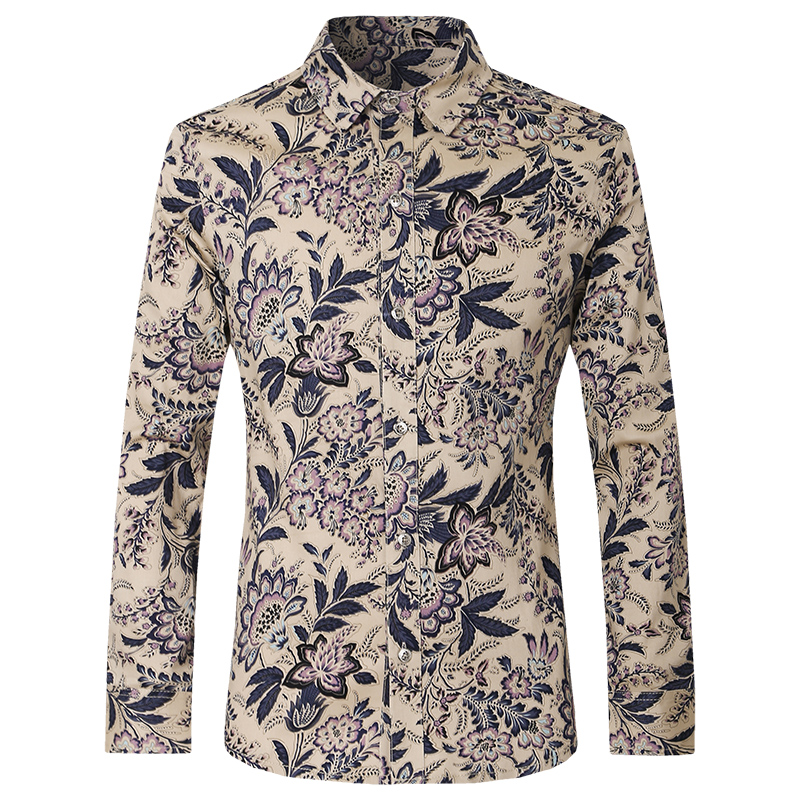 [해외]2017 유럽과 미국의 패션 남성 & s의 셔츠, 간단한 트렌드 남성 & s의 긴팔 셔츠, 고급 꽃의 고귀한 셔츠 남성/2017 European and American fashion men&s shirt, simple trend men&s long