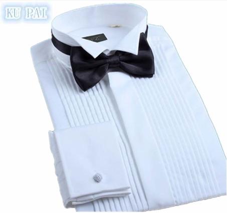 [해외]2017 뉴 여름 남성 & 셔츠 비즈니스 긴 Retail 흰 셔츠 슬림 신부 안녕히 웨딩 드레스 드레스 무료 Hottail 테일 복장/2017 New Summer Men&s Shirt Business Long Sleeve White Shirt Slim B