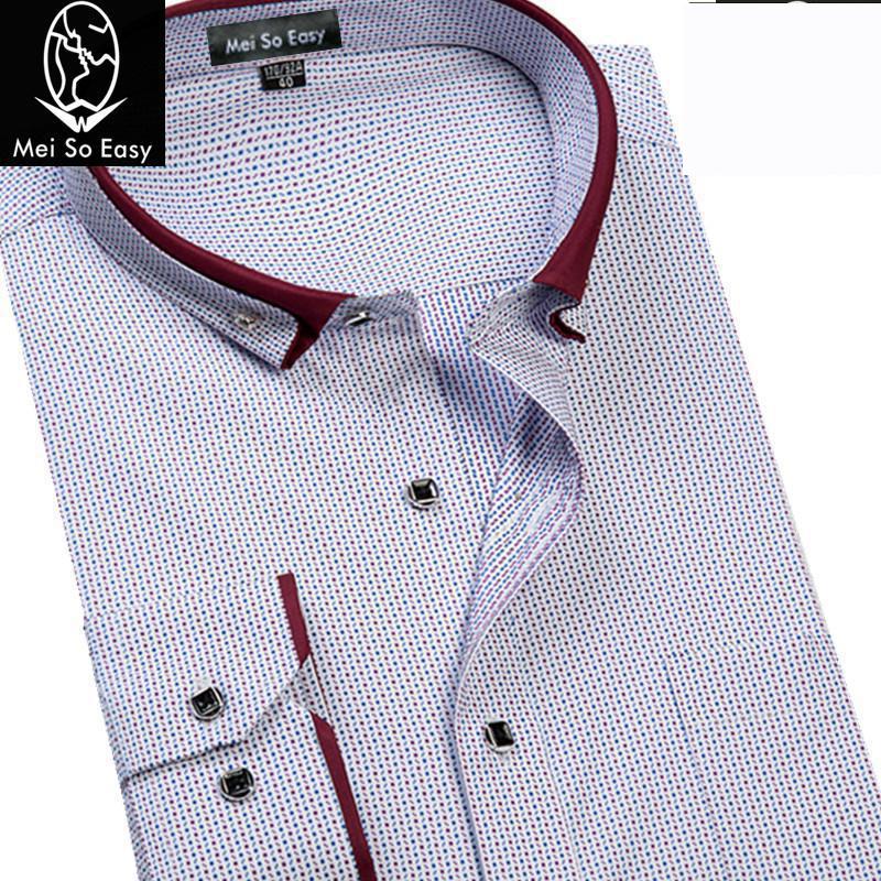 [해외]?새 도착 가을 셔츠 남성 인쇄 긴 Retail 여분의 대형 공식 셔츠 슈퍼 큰 패션 폴카 도트 플러스 크기 M -8XL9XL/ new arrival Autumn shirt male print long-sleeve extra large formal shirt s
