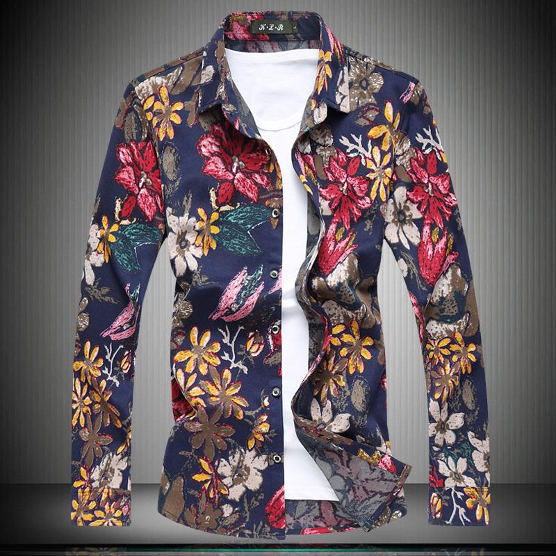 [해외]2018 봄 패션 캐주얼 망 셔츠, 남자 & s 패션 레저 꽃 셔츠 남자, 대형 남자 & s 파티 셔츠 M-5XL-6XL-7XL/2018 Spring Fashion Casual Mens shirts, Men&s Fashion Leisure Flow
