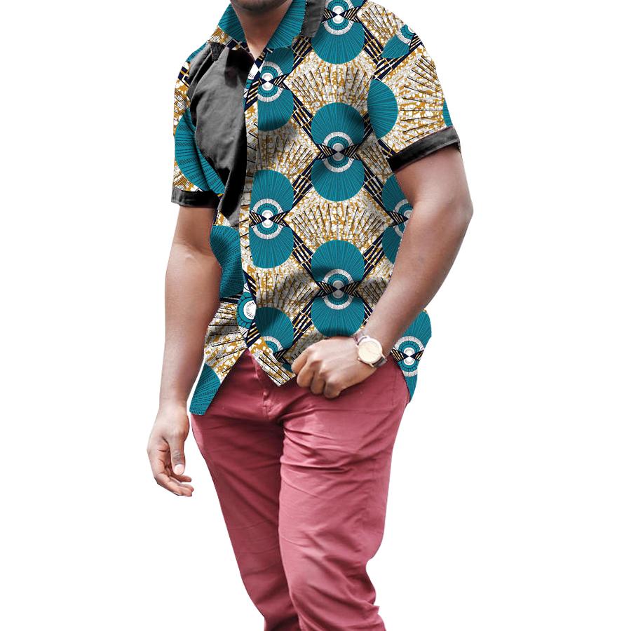 [해외]남자 & 아프리카 셔츠 아프리카 축제 패턴 긴 Retail 셔츠 남자 패션 인쇄 아프리카 남자 의류 사용자 지정/Men&s African Shirts Africa Festive Pattern Long Sleeve Shirts Men Fashion Prin