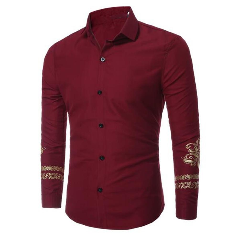[해외]고귀한 스타일 슬리브 남자 셔츠 비즈니스 남자 슬림 빨간 셔츠 저녁 파티 의류 우아한 남성 Blusa Office Wear Turn Downs/Noble Style Sleeve Men Shirt Business Man Slim Red Shirts Dinner P