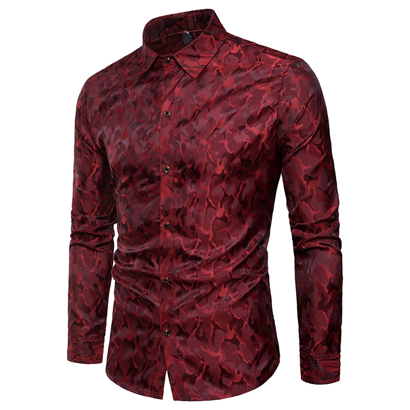 [해외]남자 트렌드 나이트 클럽 착용 클래식 디자인 남자 셔츠 비즈니스 정장 남성 사회 긴 Retail 순수 컬러 파티 드레스 셔츠 XXXL/Men Trend Night Club Wear Classical Design Men Shirts Business Formal M