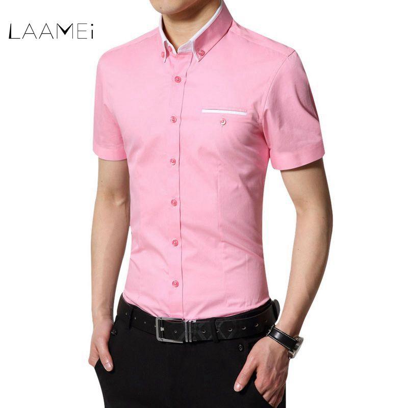 [해외]Laamei 2018 New Arrival Brand 남성 & 여름 비즈니스 셔츠 반팔 티셔츠 셔츠 남성용 셔츠 빅 사이즈 4XL/Laamei 2018 New Arrival Brand Men&s Summer Business Shirt Short Sleev