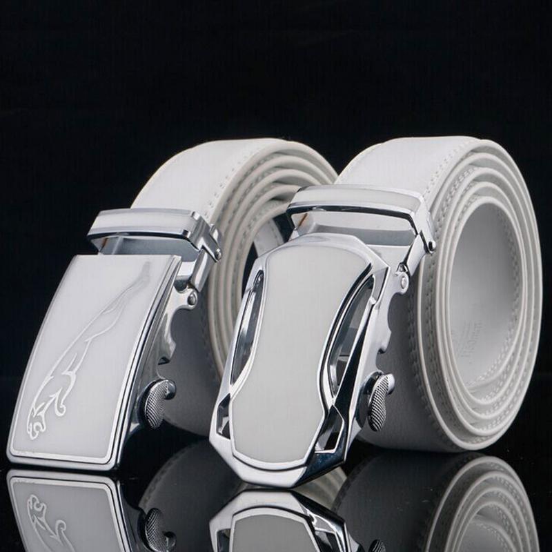 [해외]남성의 Cowskin Ceinture 옴므 화이트에 대한 재규어 디자이너 고급 소 가죽 브랜드  가죽 자동 버클 벨트/Jaguar Designers Luxury Cowhide Brand Genuine Leather Automatic Buckle Belts for