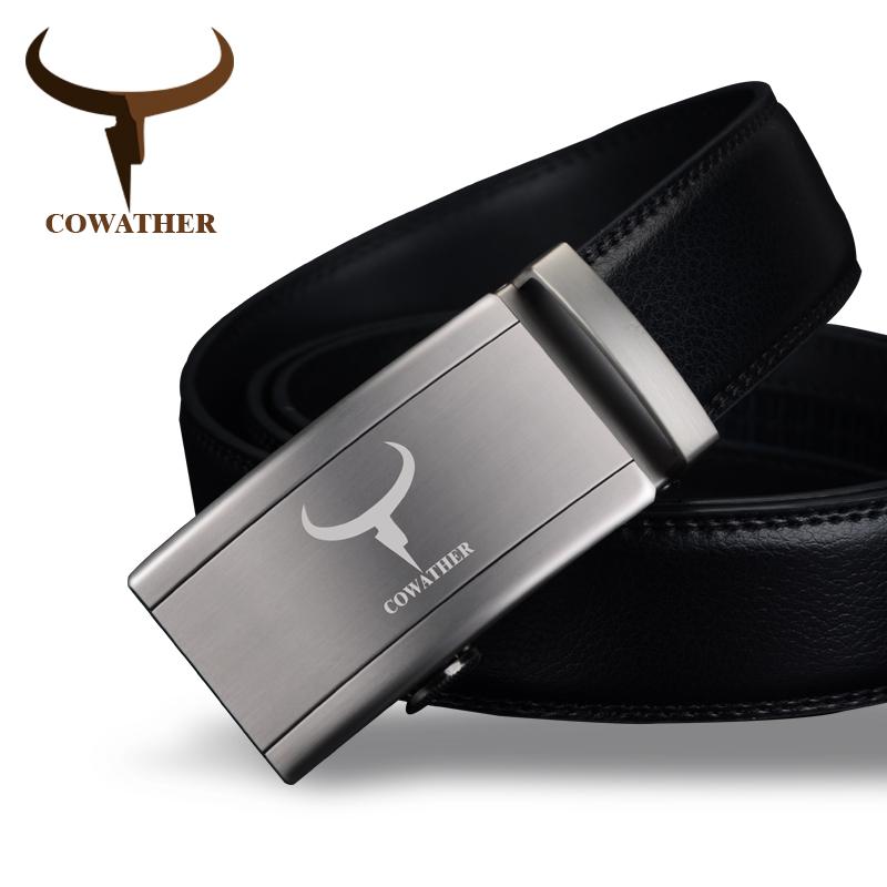 [해외]COWATHER 유행 자동 버클 남자를100 % 암소 진짜 가죽 벨트 높은 등급 최신 도착 좋은 남성 끈/COWATHER Fashion automatic buckle 100% cow genuine leather belts for men high grade new