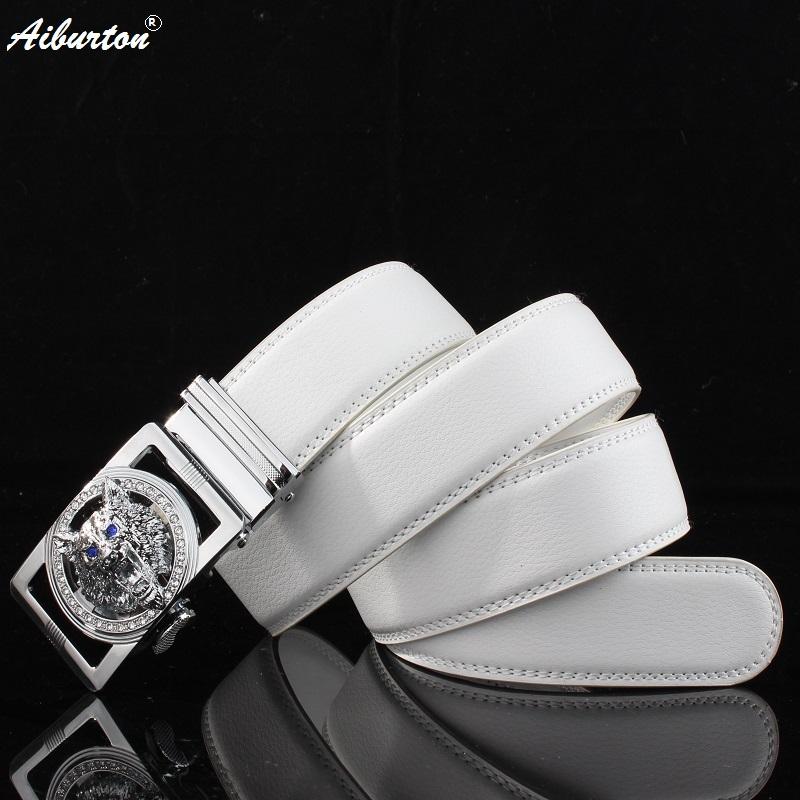 [해외]늑대 버클 남자 벨트 신사복 벨트 화이트 벨트 남성 벨트 화이트 소 가죽 끈 130cm/New Leather Belt Man Wolf Buckle Men Belt Designer belts Men  White Black cowhide straps 130cm
