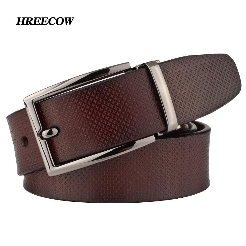 [해외]럭셔리 브랜드 벨트 남자 & s  가죽 벨트 비즈니스 쇠가죽 머리띠 패션 그레이 캐주얼 남성 Cinturones Hombre/Luxury Brand Belt Men&s Genuine Leather Belts Business Cowhide Belt Fash