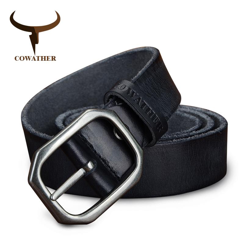[해외]COWATHER 장인 남성용  가죽 소 가죽 벨트 100-130cm 스타일 남성 스트랩 폭 3.2cm 장인 정신 FREESHIPPING/COWATHER top cow genuine leather belts for men vintage casual 100-130c