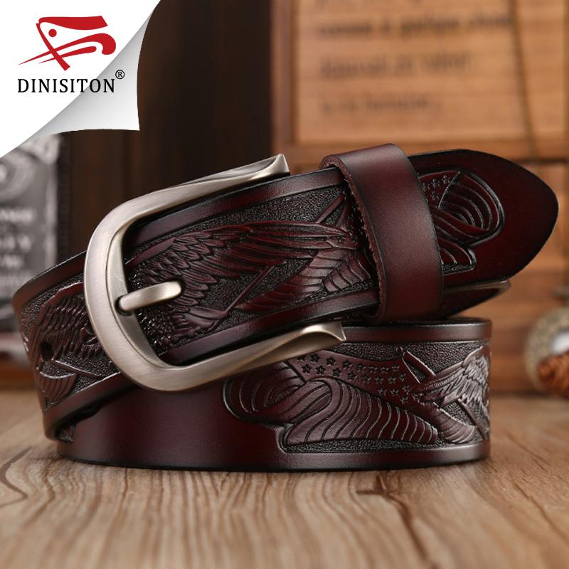 [해외]DINISITON 펑크 손수 만든 독수리 껍질 벨트 남성용 맨 위층 가죽 벨트 핀 버클 쇠가죽 채찍으로 치다 고급 스트랩 ZPB03/DINISITON Punk Handcrafted Eagle Shells Belt Top Layer Leather Belts For